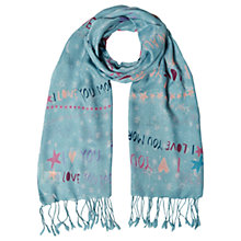 Buy White Stuff I Love You To The Moon Scarf, Blue Online at johnlewis.com
