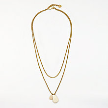 Buy AND/OR Double Teardrop Layered Curb Chain Necklace, Gold Online at johnlewis.com