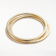 Buy AND/OR Triple Hammered Bangle, Gold Online at johnlewis.com