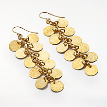 Buy AND/OR Multi Bevelled Disc Drop Earrings, Gold Online at johnlewis.com