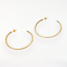Buy AND/OR Flat Hoop Earrings, Gold Online at johnlewis.com
