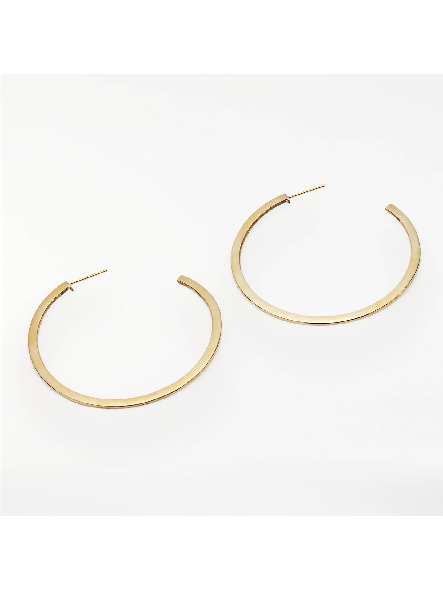 BuyAND/OR Flat Hoop Earrings, Gold Online at johnlewis.com