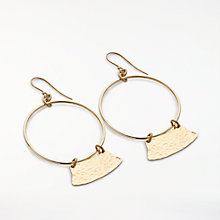 Buy AND/OR Abstract Open Circle Drop Earrings, Gold Online at johnlewis.com