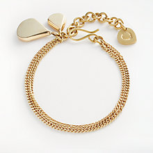 Buy AND/OR Double Teardrop Flat Chain Bracelet, Gold Online at johnlewis.com