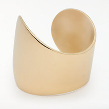 Buy AND/OR Organic Curved Cuff, Gold Online at johnlewis.com