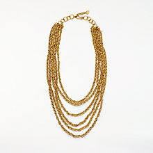 Buy AND/OR Multi Layered Chain Necklace, Gold Online at johnlewis.com