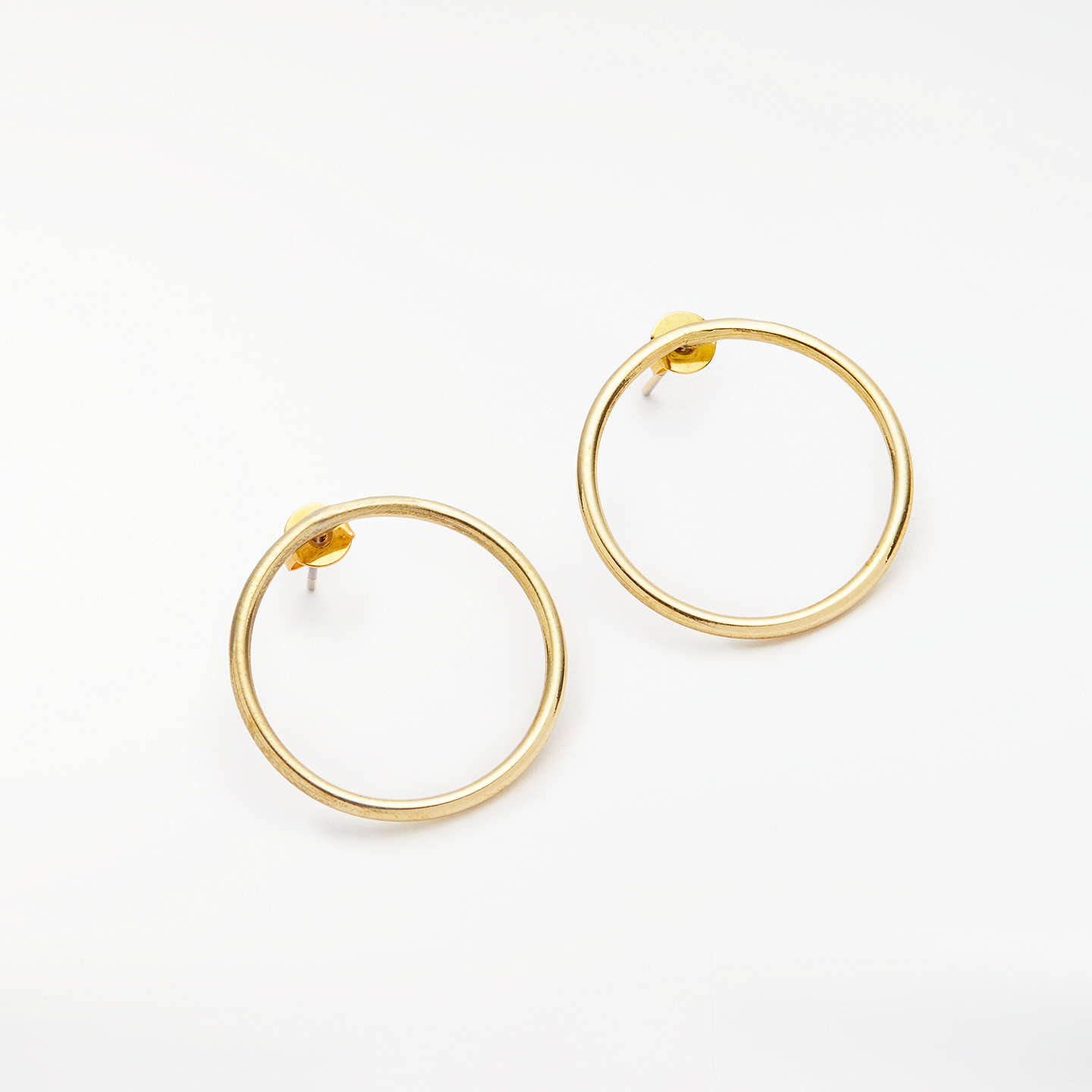circular rose happiness gold earrings boutique drop circle en