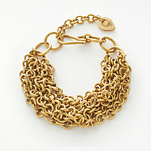 Buy AND/OR Multi Layered Chain Bracelet, Gold Online at johnlewis.com