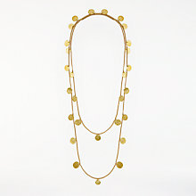 Buy AND/OR Long Multi Bevelled Disc Curb Chain Necklace, Gold Online at johnlewis.com