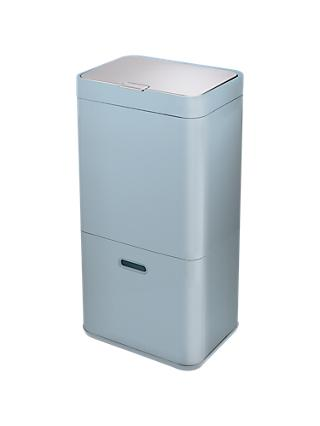 Joseph Joseph Intelligent Waste Separation & Recycling Totem Bin, 60L, Blue/Grey