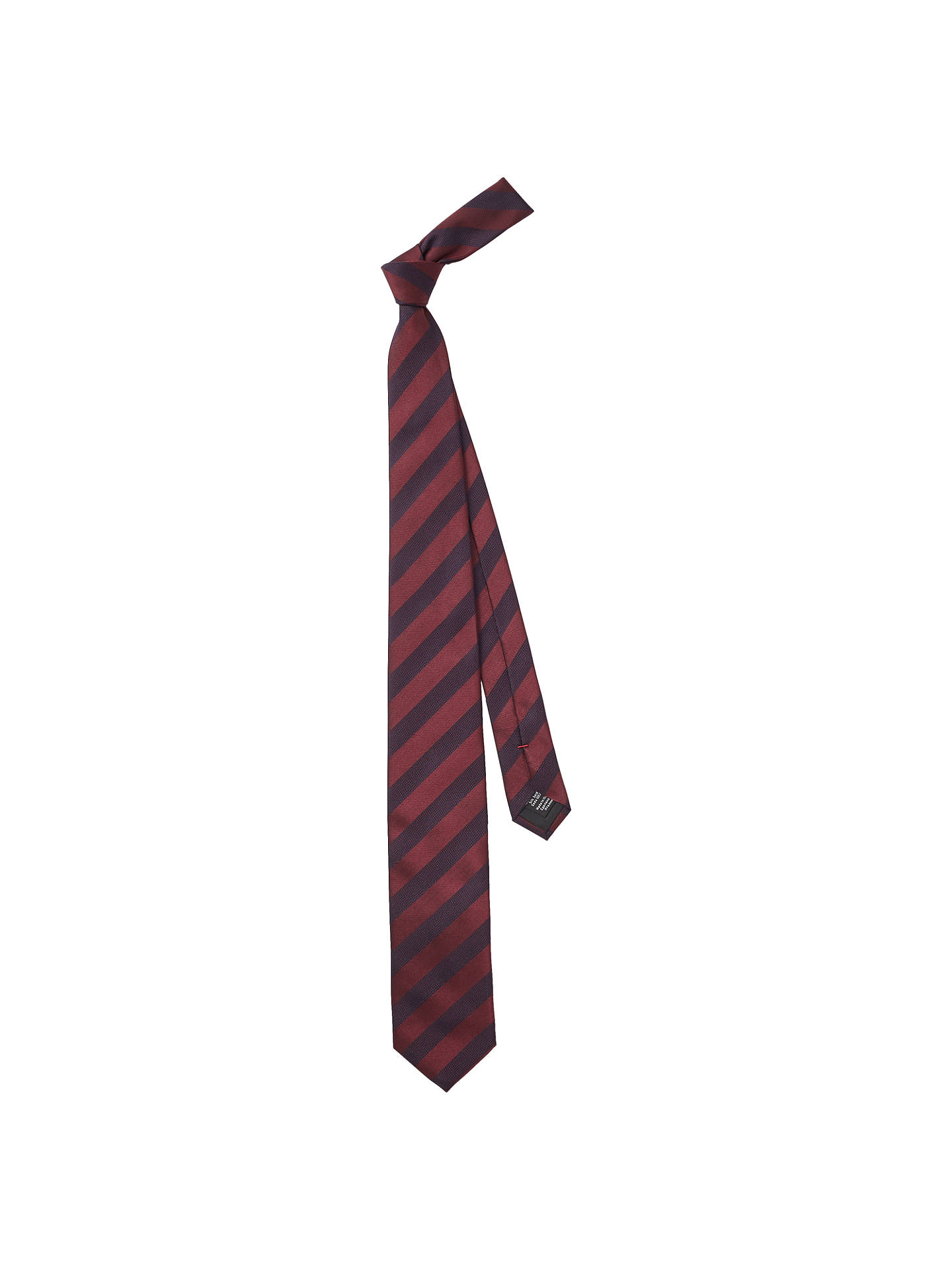 BuyHUGO by Hugo Boss Geo Stripe Silk Tie, Dark Red Online at johnlewis.com