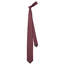 Buy HUGO by Hugo Boss Fine Stripe Silk Tie, Dark Red Online at johnlewis.com