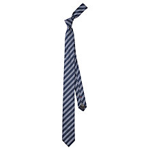 Buy HUGO by Hugo Boss Diagonal Stripe Silk Tie, Navy Online at johnlewis.com