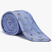 Buy John Lewis Zebra Silk Tie, Sky Blue Online at johnlewis.com