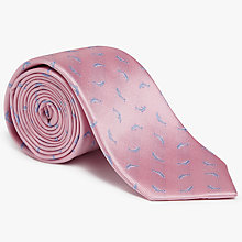 Buy John Lewis Dolphin Silk Tie, Pink Online at johnlewis.com