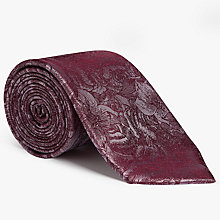 Buy John Lewis Tonal Rose Silk Tie Online at johnlewis.com