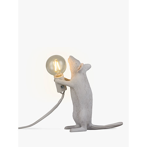 buy seletti standing mouse table lamp white john lewis. Black Bedroom Furniture Sets. Home Design Ideas