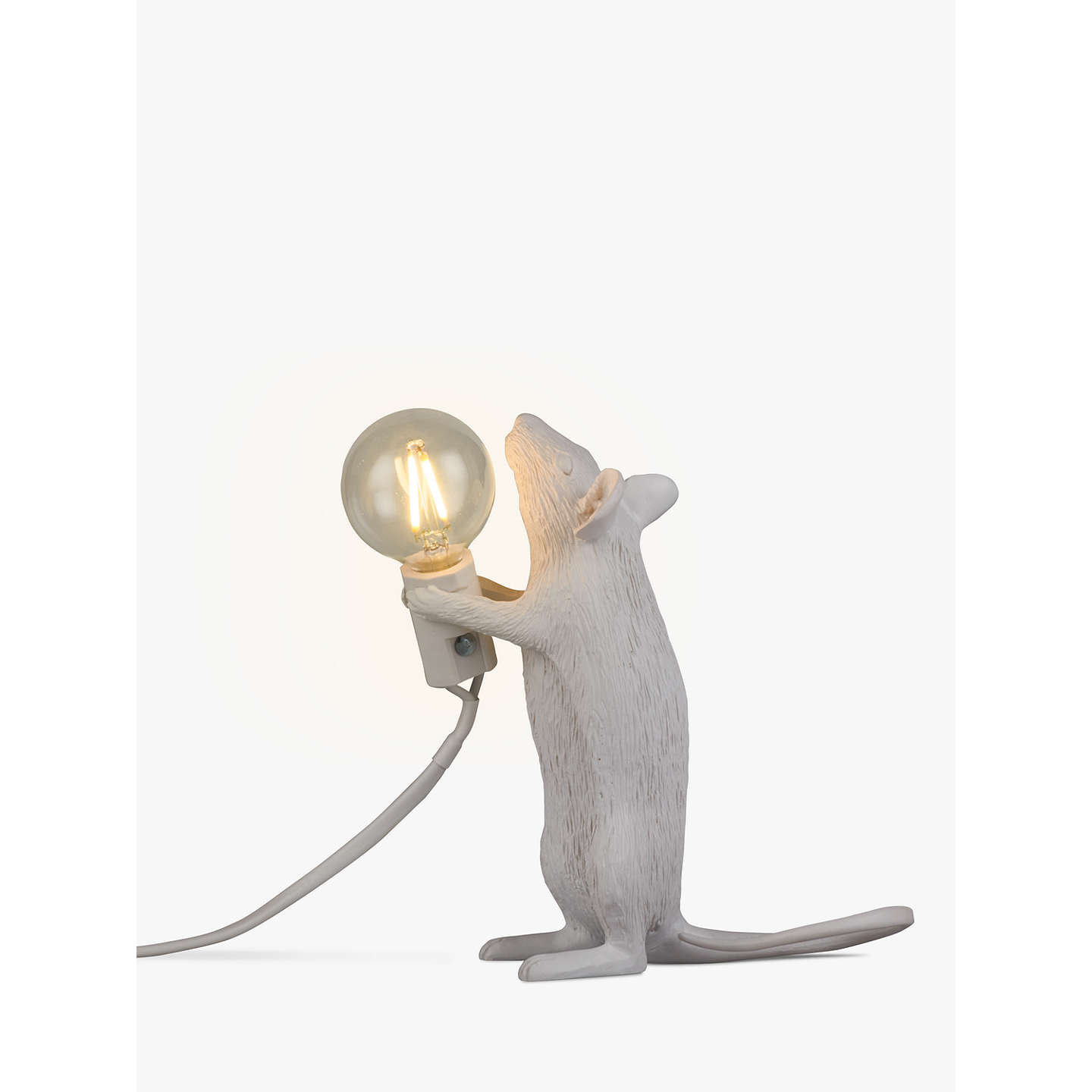 seletti standing mouse table lamp white at john lewis. Black Bedroom Furniture Sets. Home Design Ideas