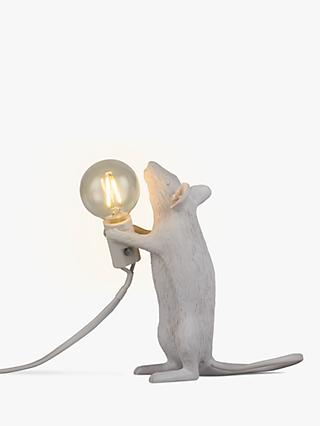 Seletti Standing Mouse Table Lamp, White