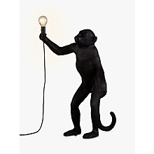 Buy Seletti Standing Monkey Table Lamp, Black Online at johnlewis.com