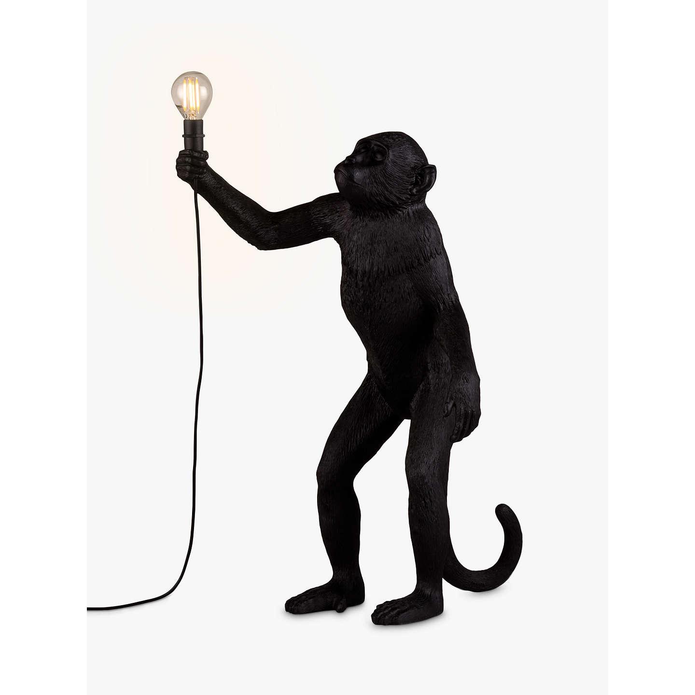 Seletti Standing Monkey Table Lamp Black At John Lewis