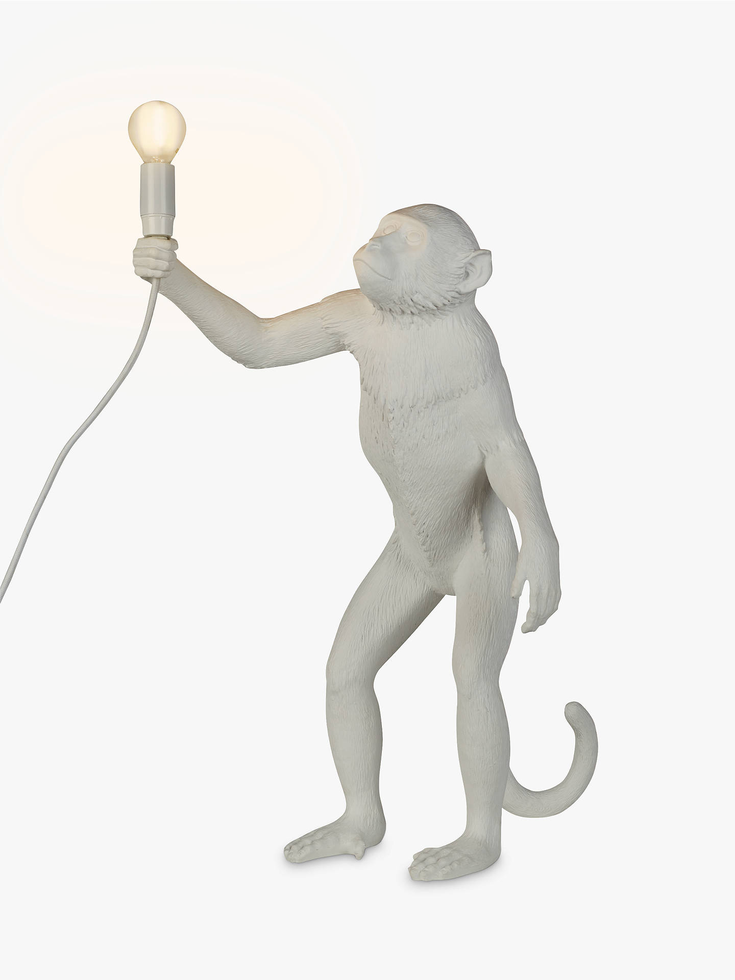 Buy Seletti Standing Monkey Table Lamp, White Online at johnlewis.com