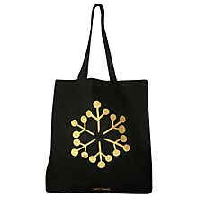 Buy John Lewis Christmas Snowflake Tote Bag, Black/Gold Online at johnlewis.com