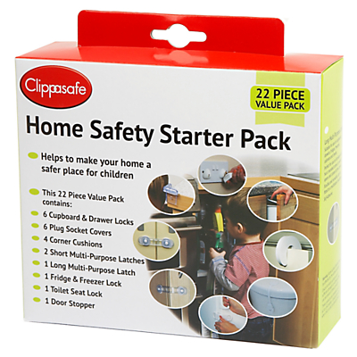 Clippasafe Home Safety Starter Pack, 22 Pieces