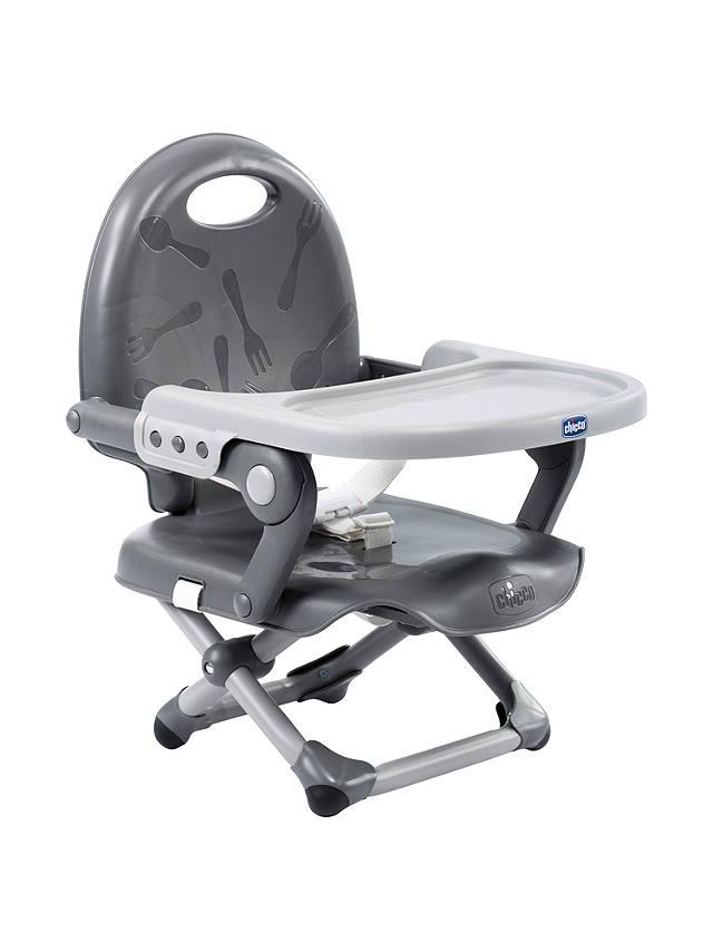 Buy Chicco Pocket Snack Highchair, Dark Grey Online at johnlewis.com