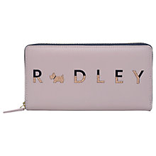 Buy Radley All That Glitters Leather Large Matinee Purse, Pale Pink Online at johnlewis.com