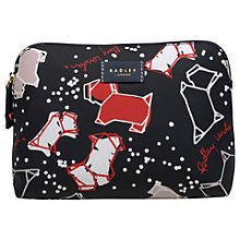 Buy Radley Speckle Dog Medium Zip-Top Pouch Purse, Ink Online at johnlewis.com