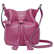Buy Radley Rose Court Leather Small Drawstring Cross Body Bag Online at johnlewis.com