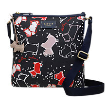 Buy Radley Speckle Dog Medium Zip Top Cross Body Bag, Ink Online at johnlewis.com