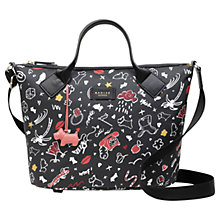 Buy Radley Sugar & Spice Medium Zip Top Grab Bag, Black/Multi Online at johnlewis.com