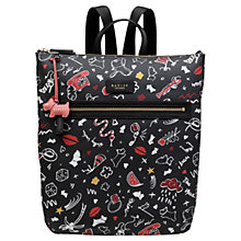 Buy Radley Sugar & Spice Medium Zip Top Backpack, Black/Multi Online at johnlewis.com