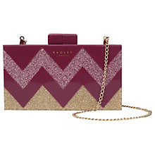 Buy Radley Upper Street Small Clutch Bag, Berry Online at johnlewis.com