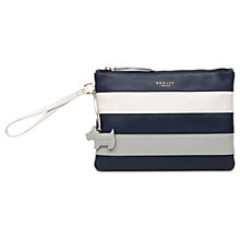 Buy Radley Syon Park Leather Medium Clutch Bag, Chalk Online at johnlewis.com