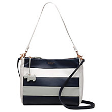 Buy Radley Syon Park Medium Leather Shoulder Bag, Chalk Online at johnlewis.com