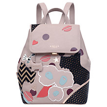 Buy Radley Summer Street Leather Small Backpack, Cobweb Online at johnlewis.com