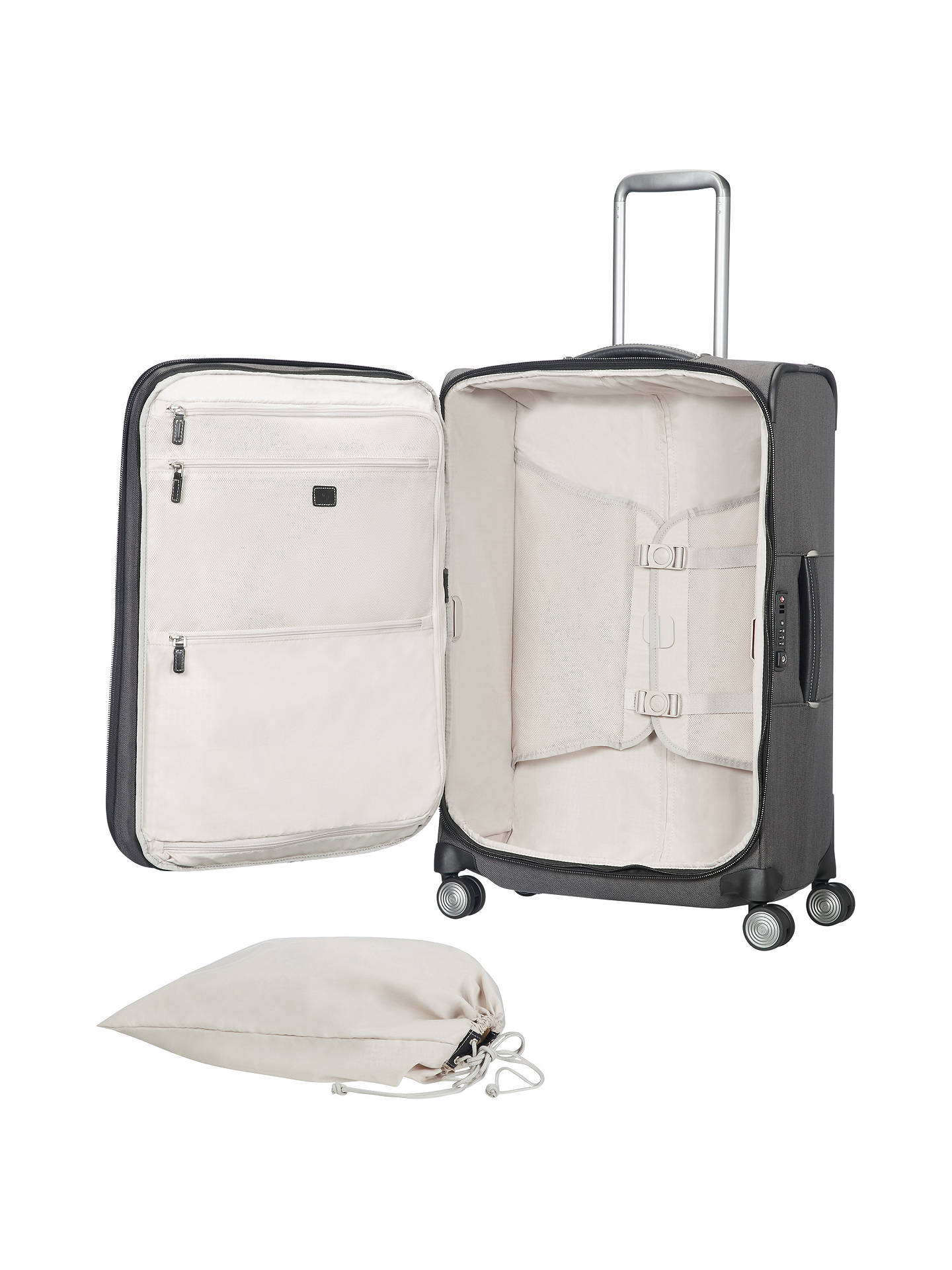 Buy Samsonite Lite-DLX 4-Wheel 79cm Large Suitcase, Grey Eclipse Online at johnlewis.com