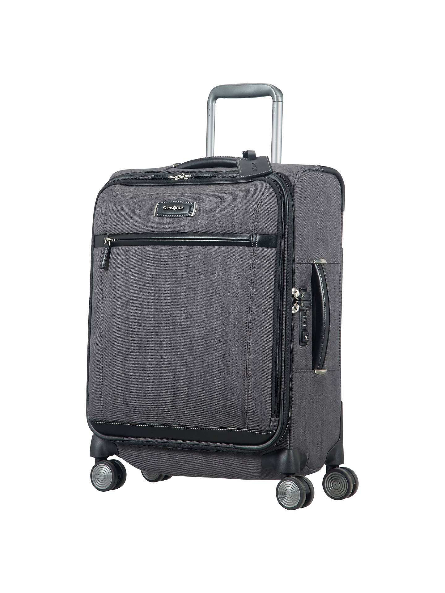 BuySamsonite Lite DLX Spinner 4-Wheel 55cm Cabin Suitcase Online at johnlewis.com