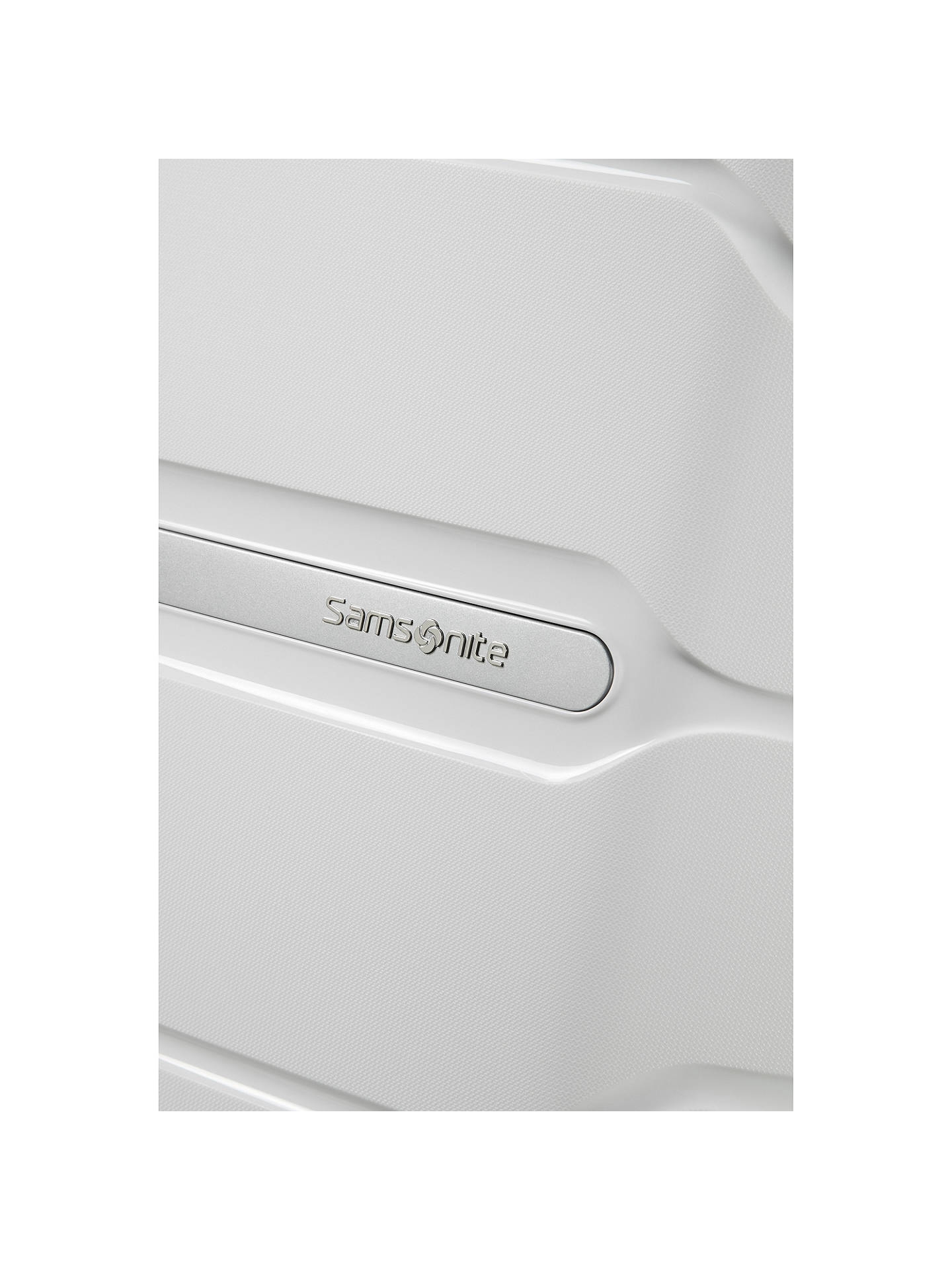 BuySamsonite Flux Spinner 4-Wheel 75cm Large Suitcase, White Online at johnlewis.com