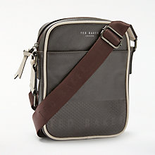 Buy Ted Baker Aight Embossed Mini Flight Bag, Chocolate Online at johnlewis.com