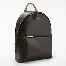 Buy Ted Baker Clarky Embossed Backpack, Chocolate Online at johnlewis.com