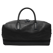 Buy Ted Baker Mylow Large Leather Holdall Bag, Black Online at johnlewis.com