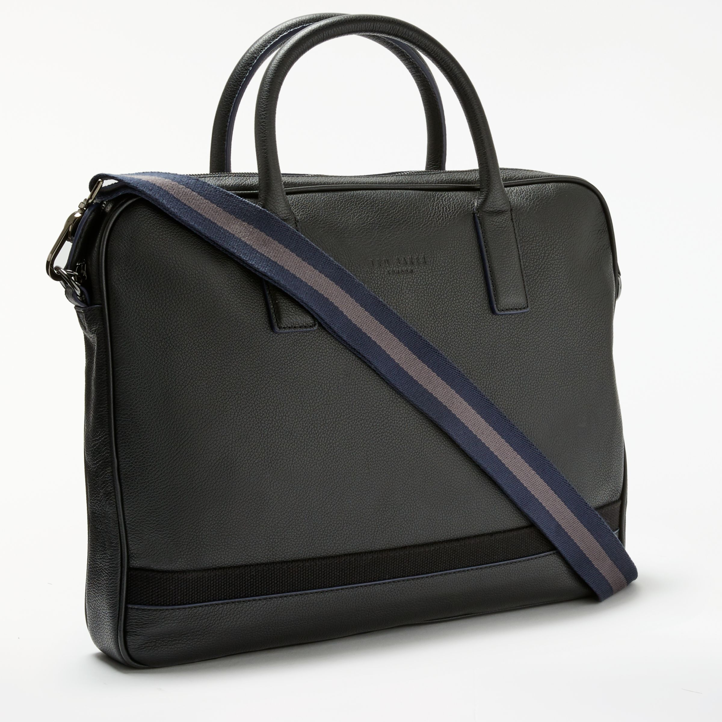 7ace5498d5 Ted Baker Lowme Leather Document Bag, Black at John Lewis & Partners