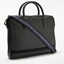 Buy Ted Baker Lowme Leather Document Bag, Black Online at johnlewis.com
