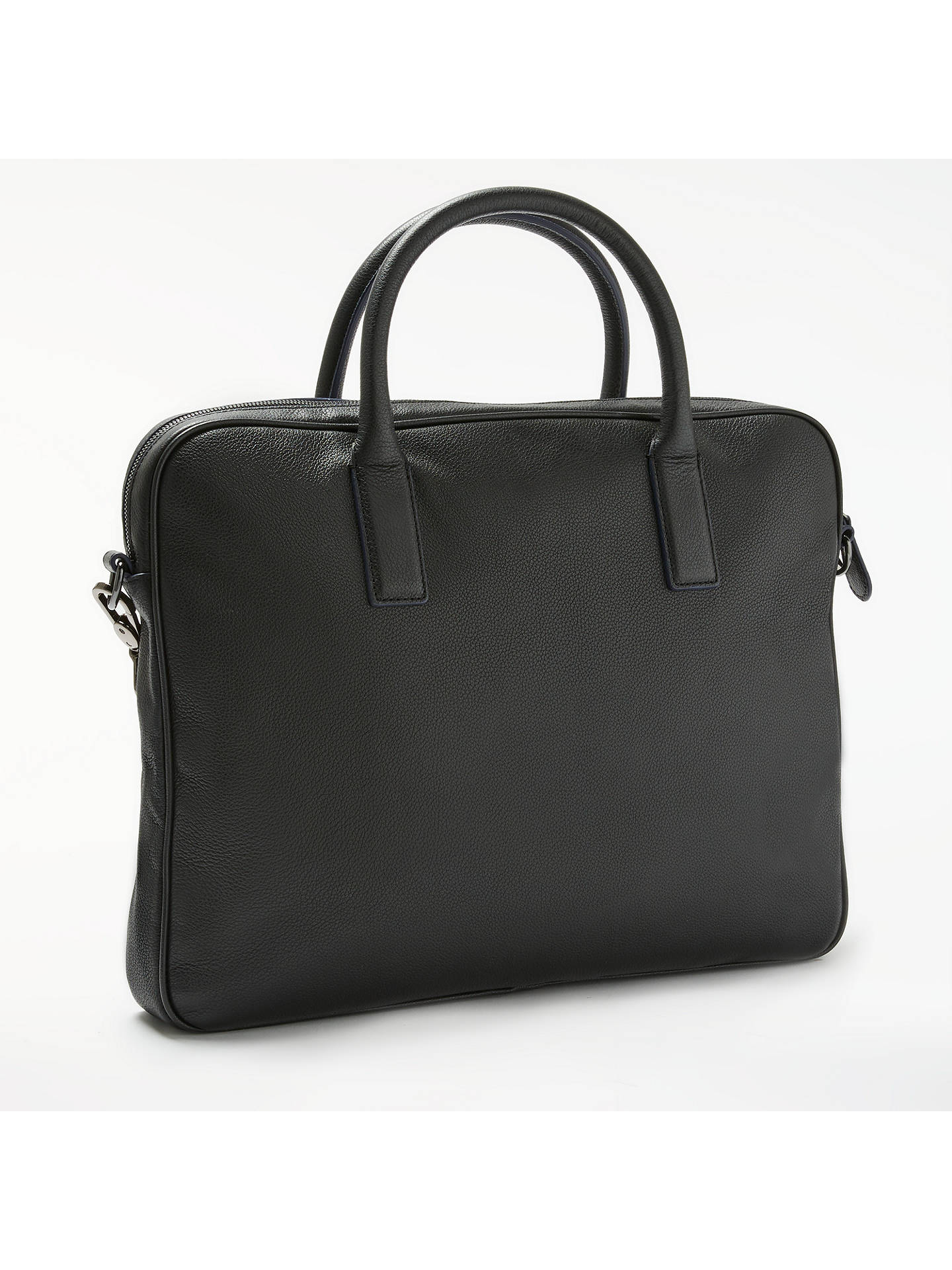 c1a46a2670c ... Buy Ted Baker Lowme Leather Document Bag, Black Online at johnlewis.com  ...