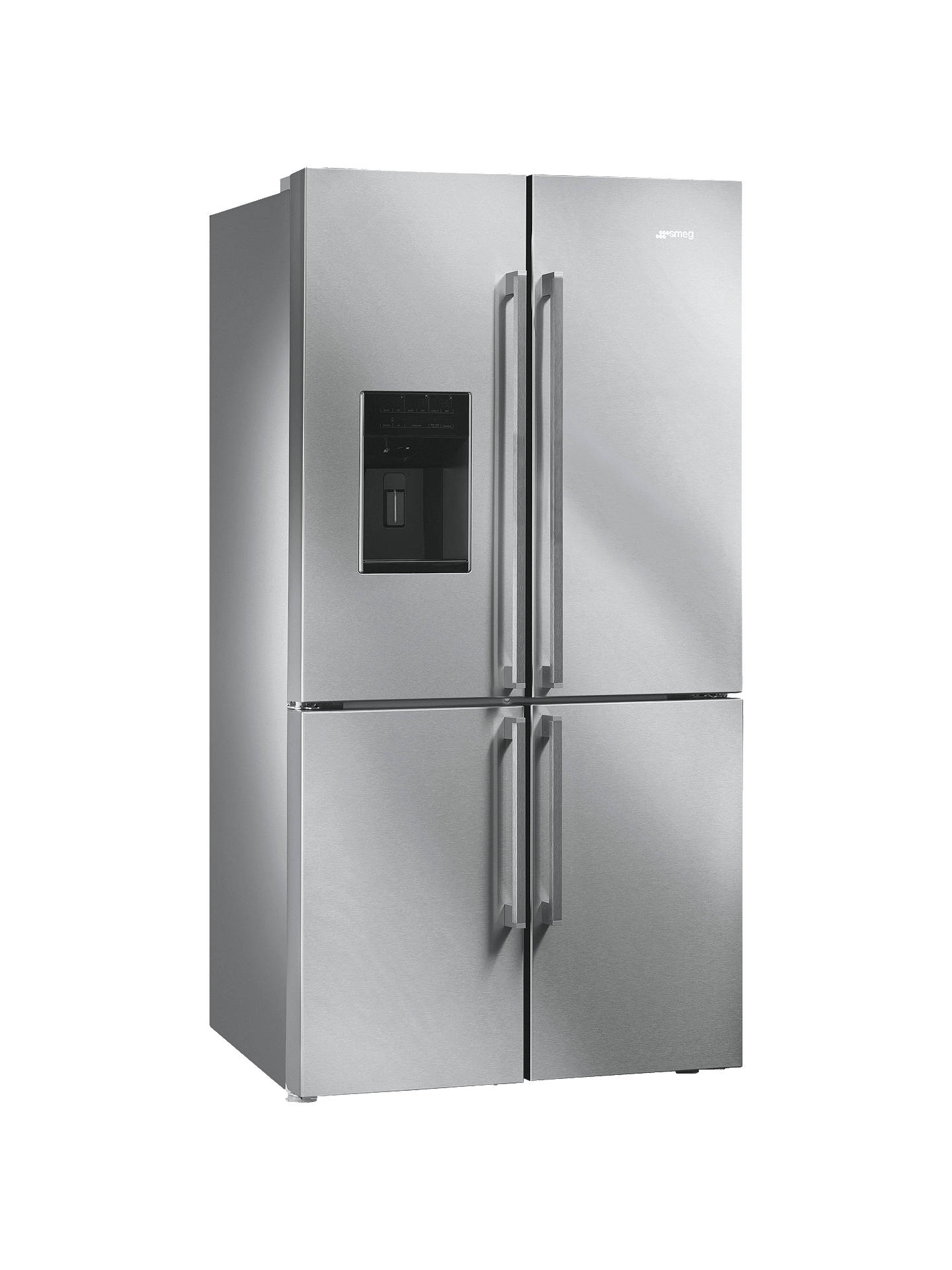 Buy Smeg FQ75XPED 4-Door American Style Fridge-Freezer, A+ Energy Rating, 91cm Wide, Stainless Steel Online at johnlewis.com