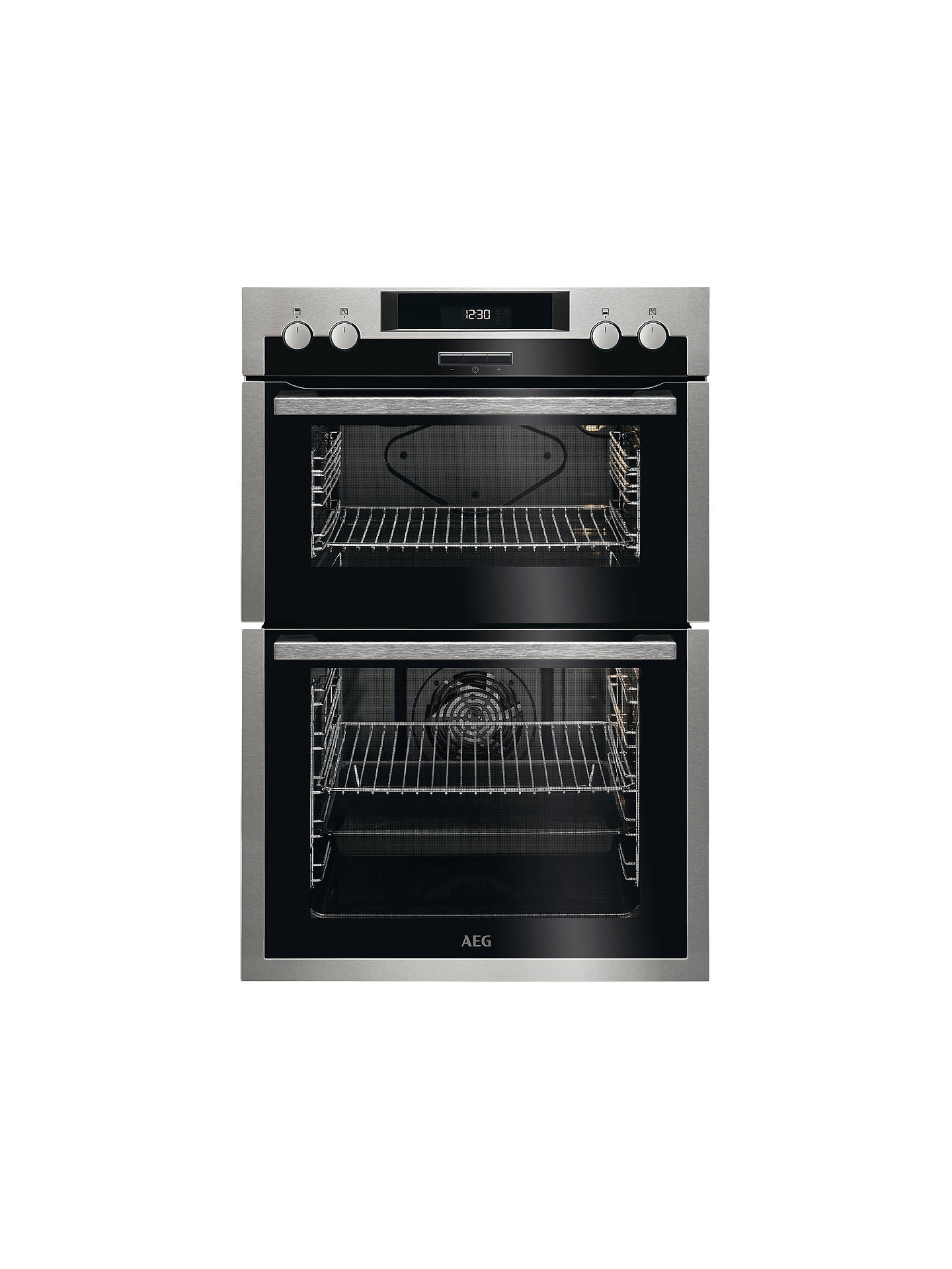 Buy AEG DES431010M Built-In Multifunction Double Oven, Stainless Steel Online at johnlewis.com